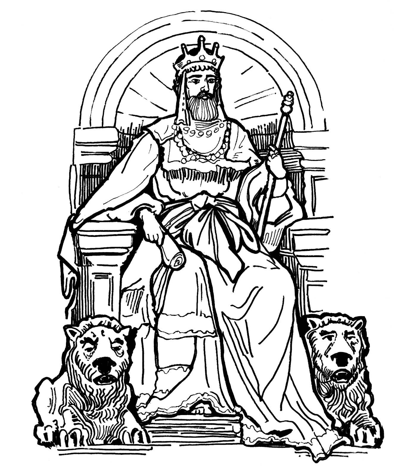 Kings Throne Drawing King And His Throne in